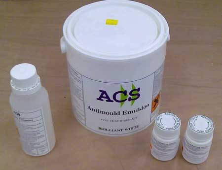 Anti Mold Paint - white emulsion paint guaranteed against mold for 5 years