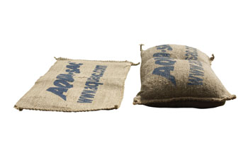 Self filling sandbags dry versus water swollen