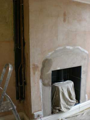 Damp patches on a chimney breast
