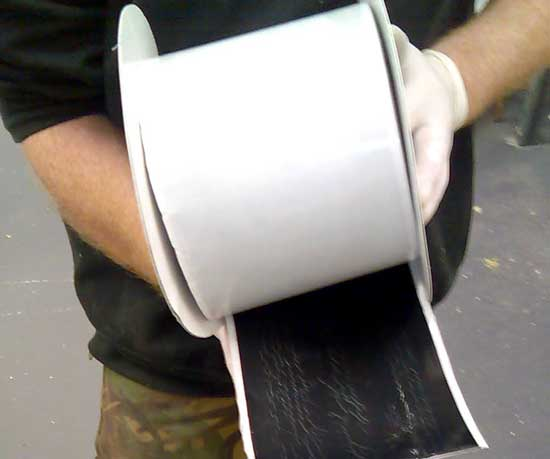 Wide single sided tape, for Membrane sealing