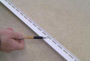 Profile Strip showing internal vent holes
