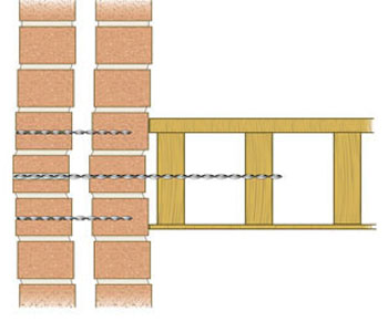 Lateral wall tie for bulging walls
